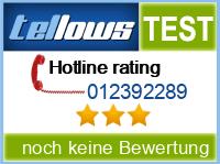tellows Bewertung 012392289